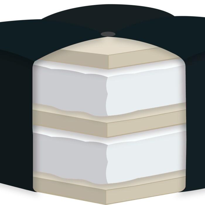 Double Certified Foam Futon Queen Mattress