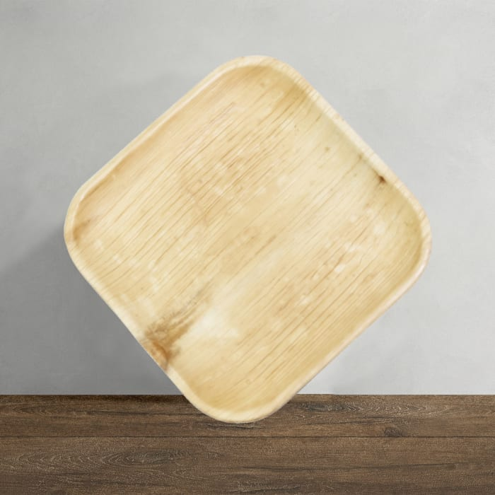 Indra Square Disposable Palm Leaf Plate 9