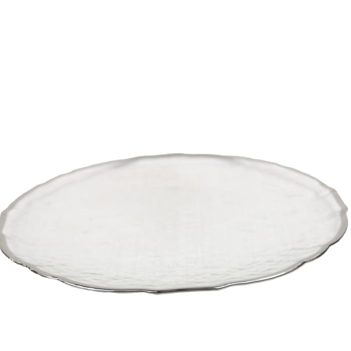 Himal Silver Rimmed Glass Charger Set of 12