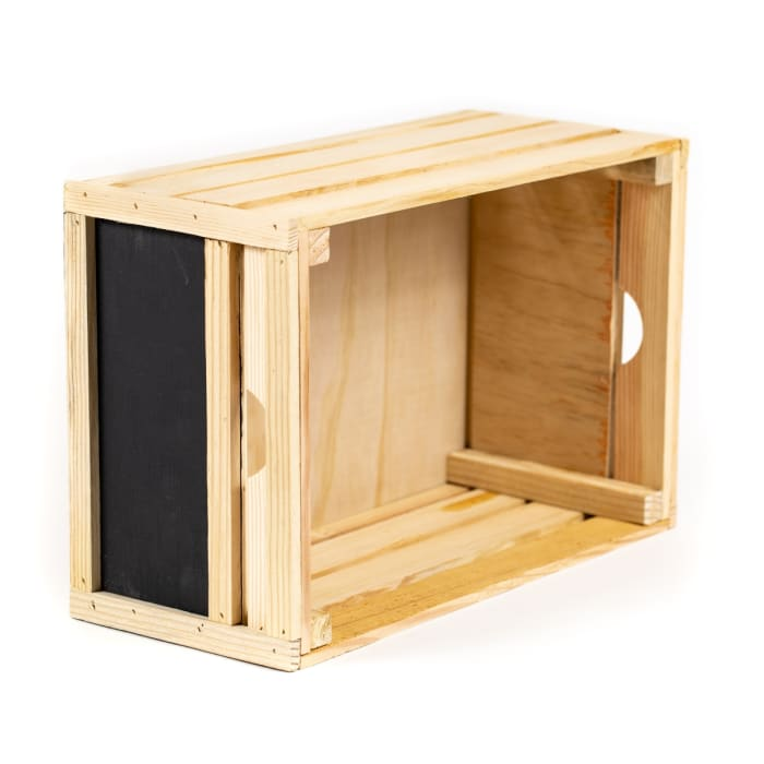 Rustic Decorative Wood Crate Chalkboard Ends
