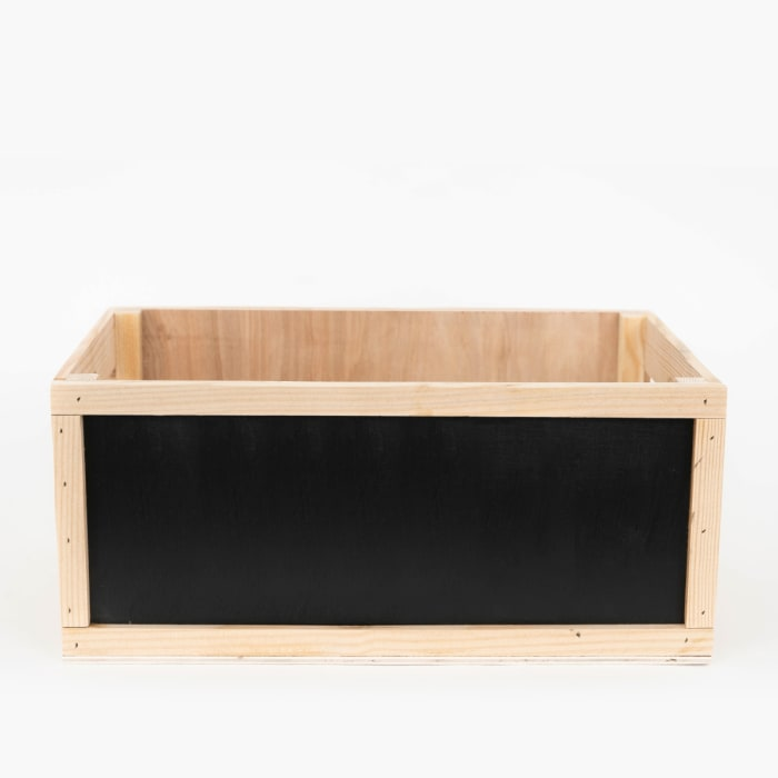 Rustic Decorative Wood Crate Chalkboard Sides