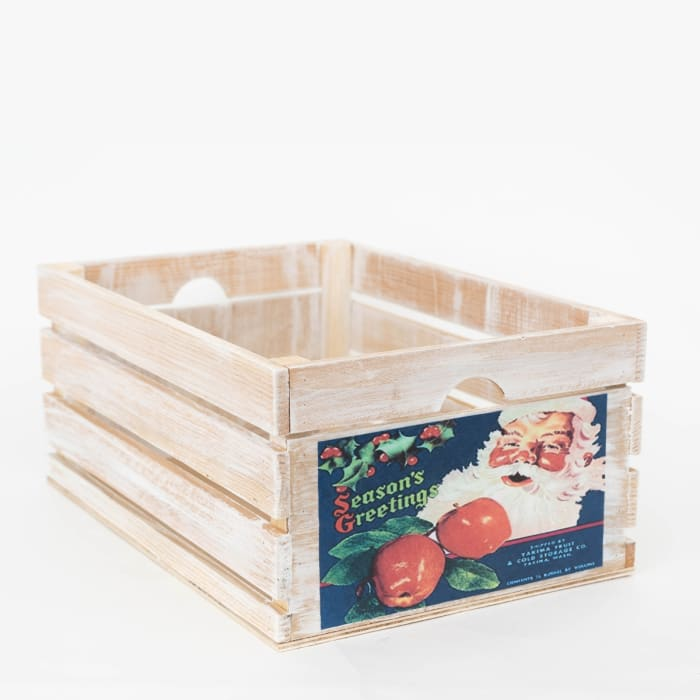 Vintage Style Wood Fruit Crate Apple