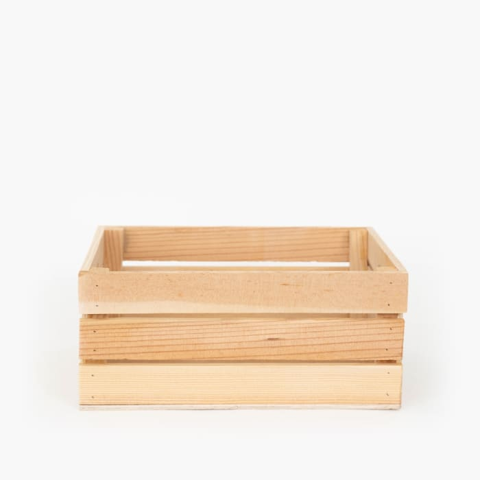 Vintage Style Wood Holiday Crate Apple