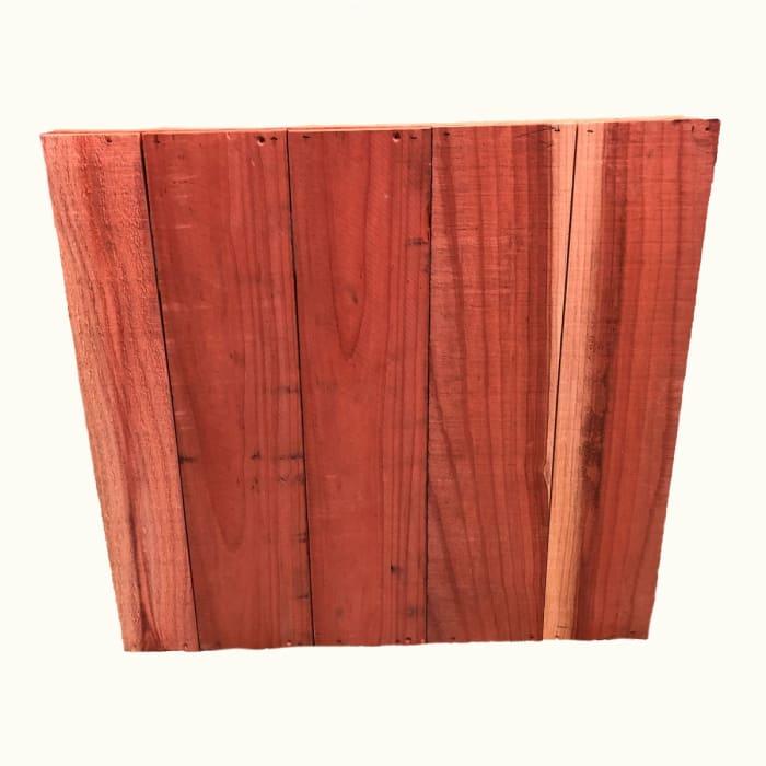 Chevron Square Wood Planter