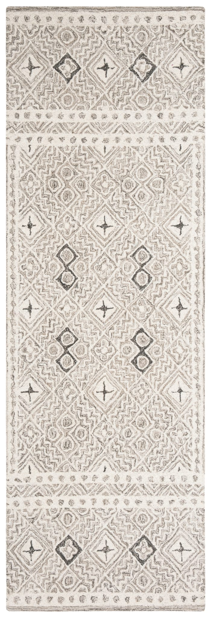 Essence Gray Wool Rug 2'5