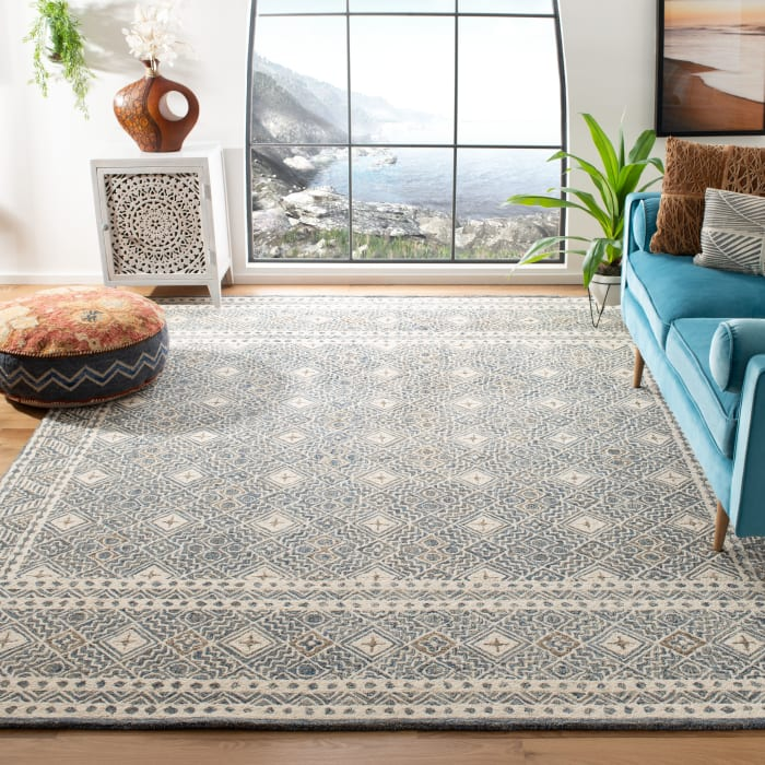 Essence Blue Wool  Rug 8' x 10'