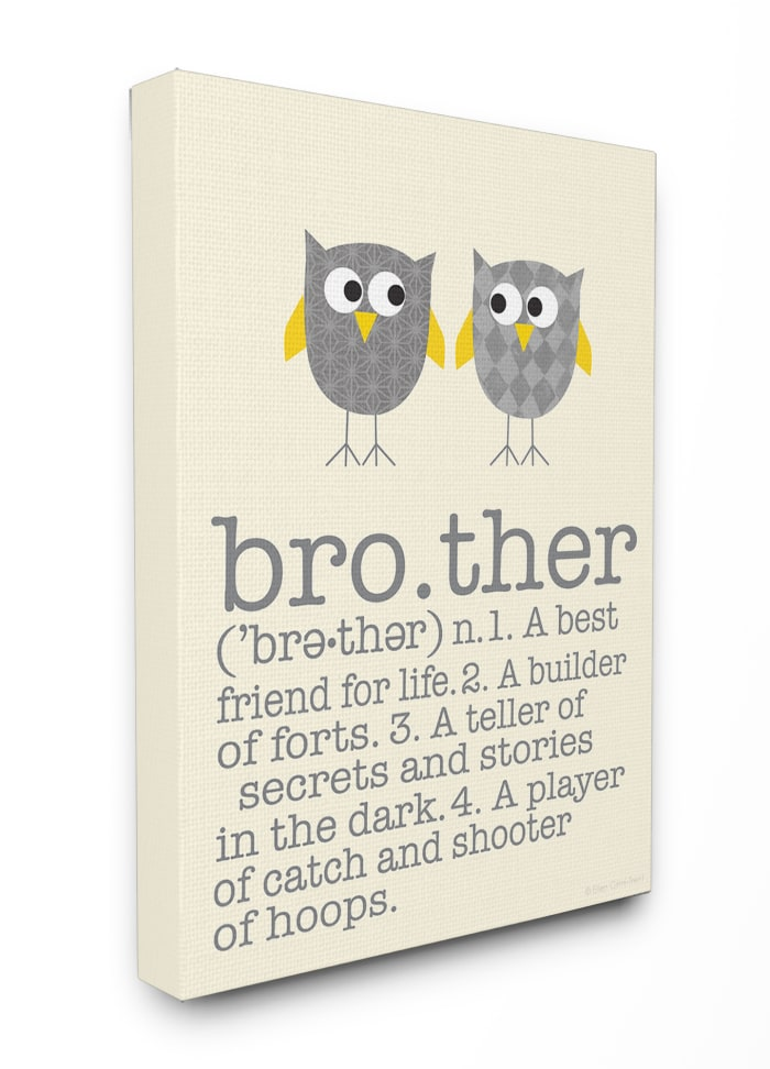 Brother Owl Wall Art