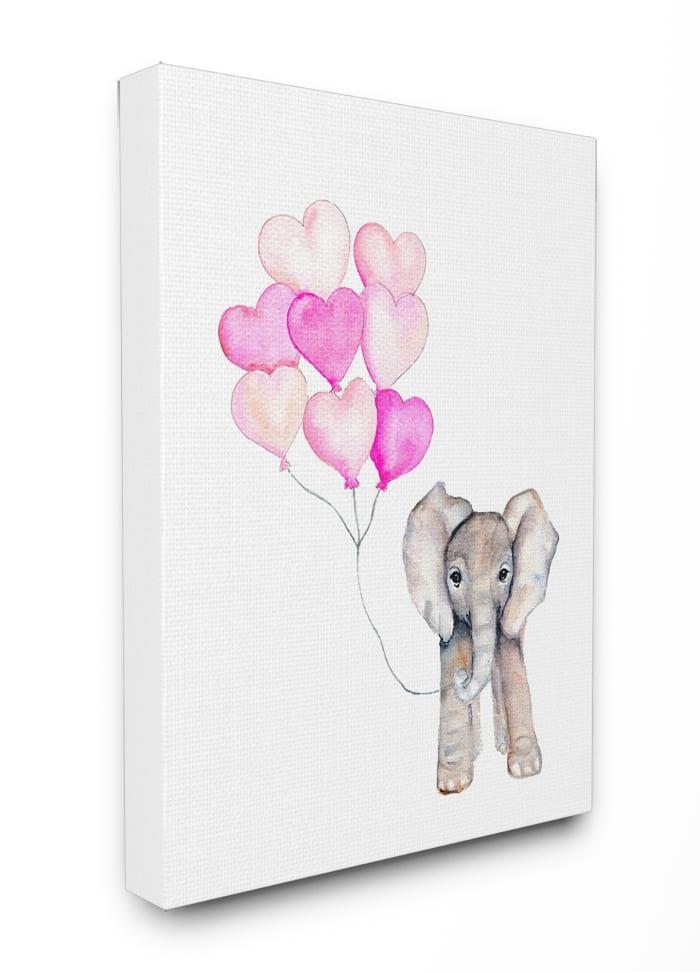 Full of Love Party Elephant Wall Art