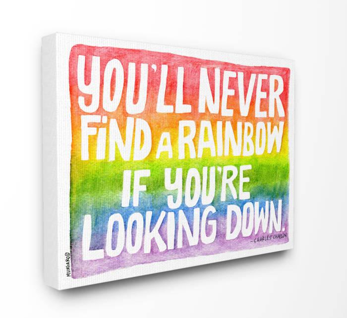 Seeking a Rainbow Typography Wall Art