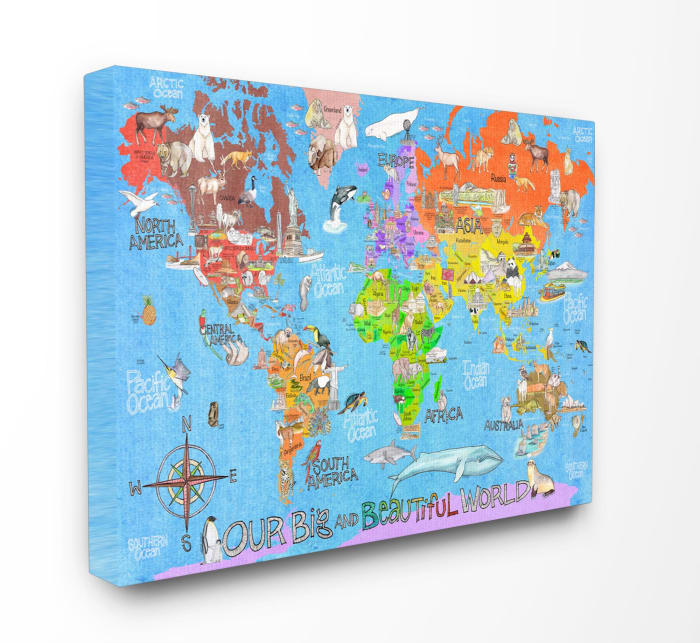 Beautiful World Map Wall Art