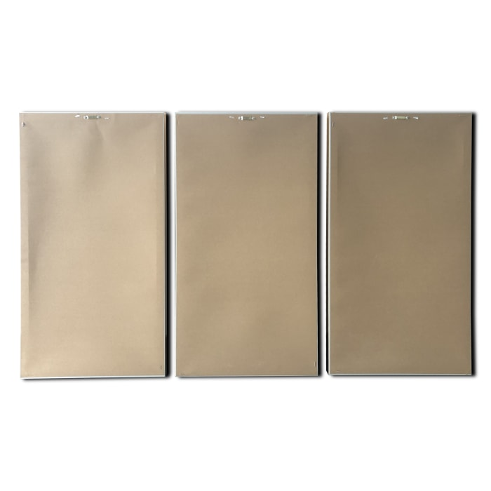 Abstract Regalite Triptych 48x30 Floating Canvas with Gold Frame