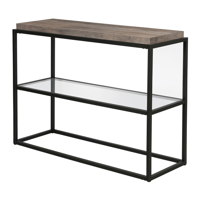 Hector Blackened Bronze and Gray Oak Accent Table