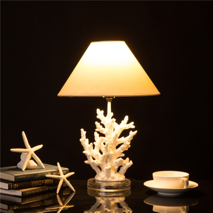 Polyresin Coral Table Lamp