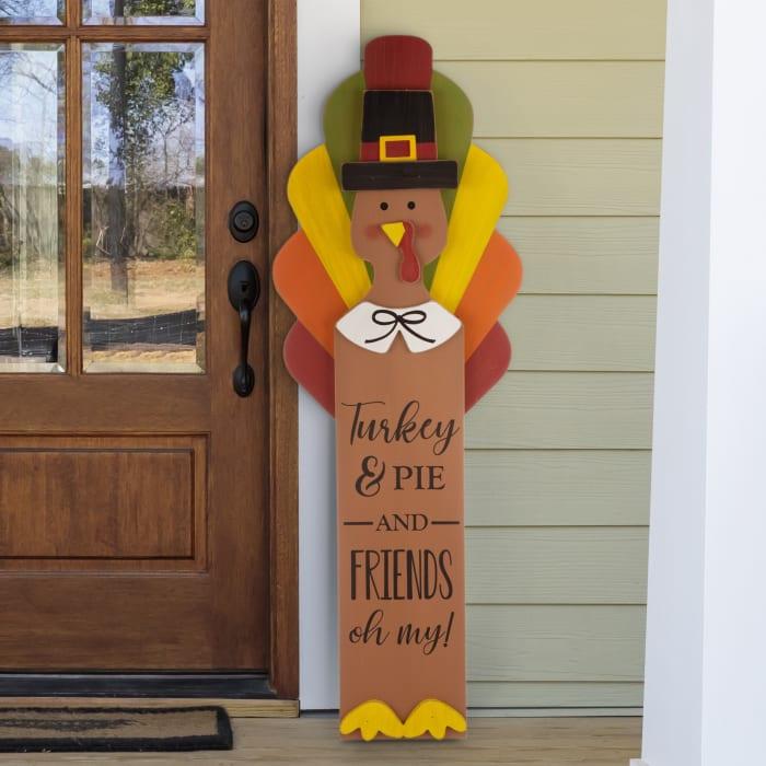 Thanksgiving Wooden Turkey Standing Decor