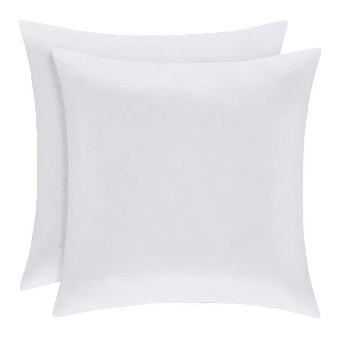White Oversized Euro Pillow Pair