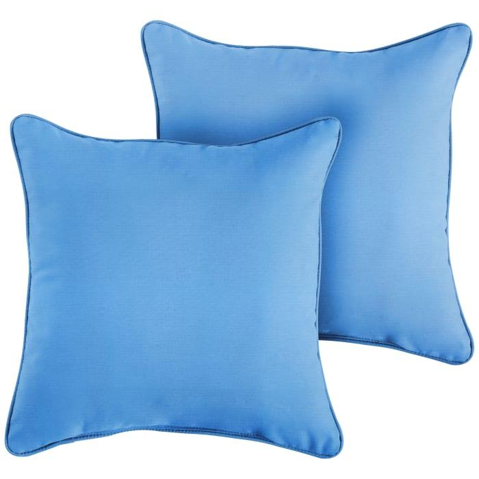 Sunbrella Corded in Canvas Capri Outdoor Pillows Set of 2
