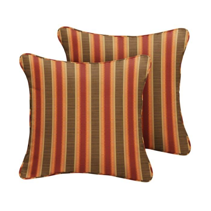 Sunbrella Corded in Dimone Sequoia Outdoor Pillows Set of 2