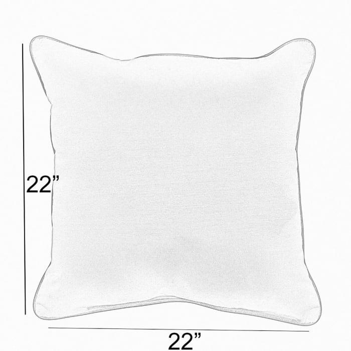 Sunbrella Antique Knife Edge in Canvas Beige Outdoor Pillows Set of 2