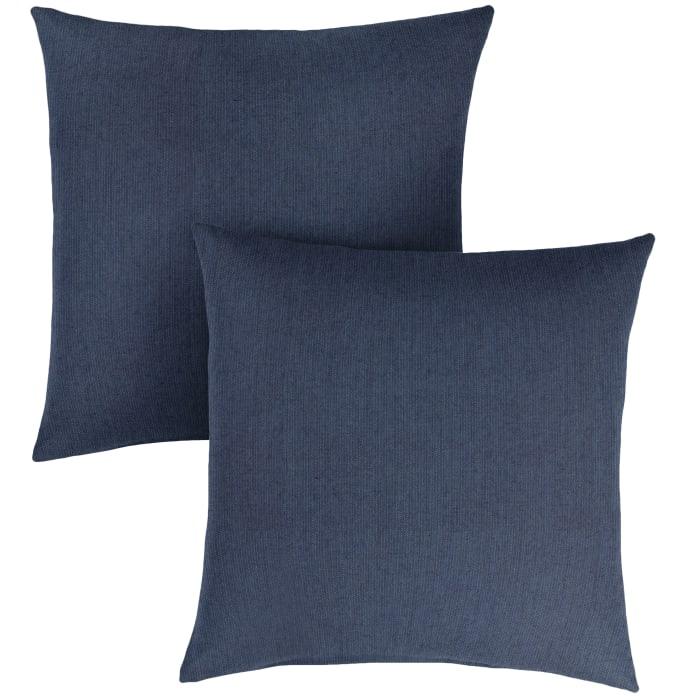 Sunbrella Knife Edge in Spectrum Indigo Outdoor Pillows Set of 2