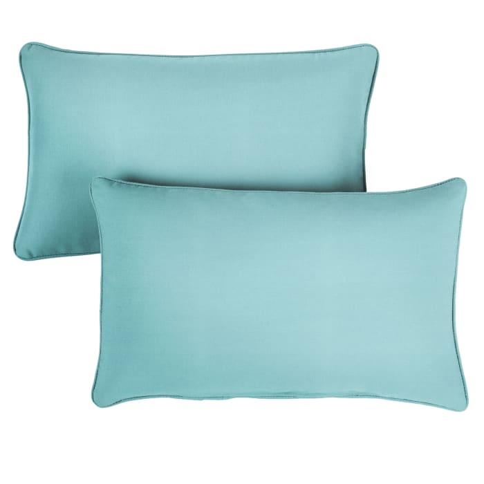 Sunbrella Oversized Corded in Canvas Aruba Outdoor Pillows Set of 2