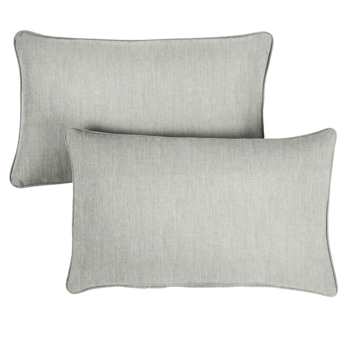 Sunbrella Oversized Corded in Canvas Granite Outdoor Pillows Set of 2
