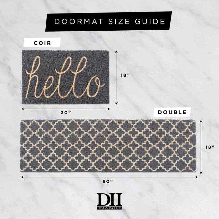 Aqua Hello Doormat