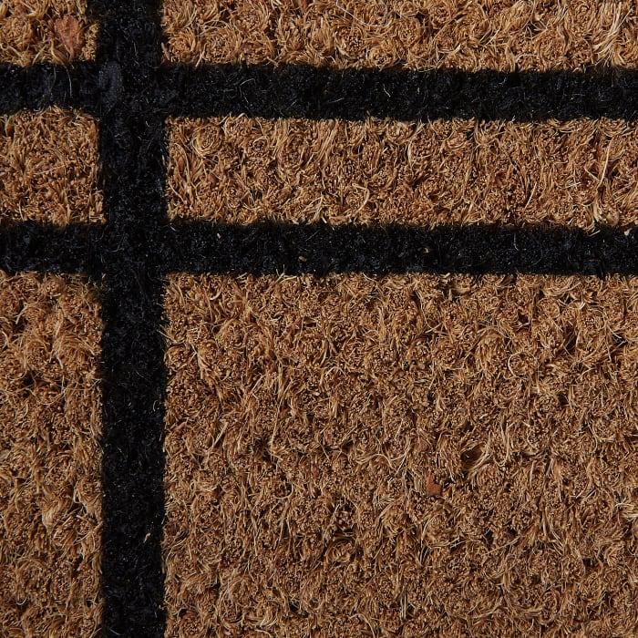Black Farmhouse Plaid Doormat