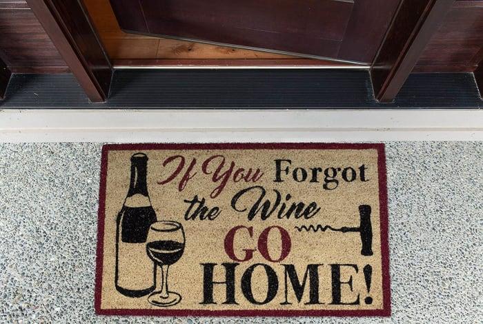 Forgot The Wine Doormat