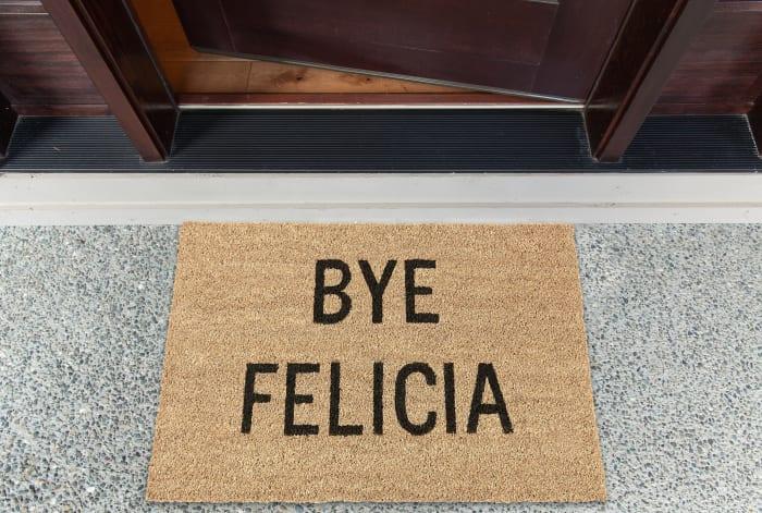 J&M Bye Felicia Vinyl Back Coir Doormat 18x30