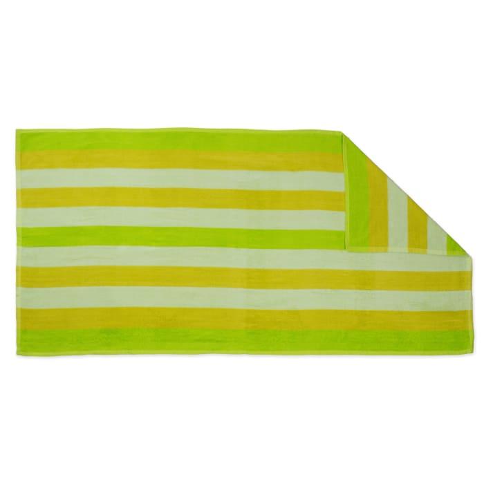 J&M Cabana Green Stripe Beach Towel