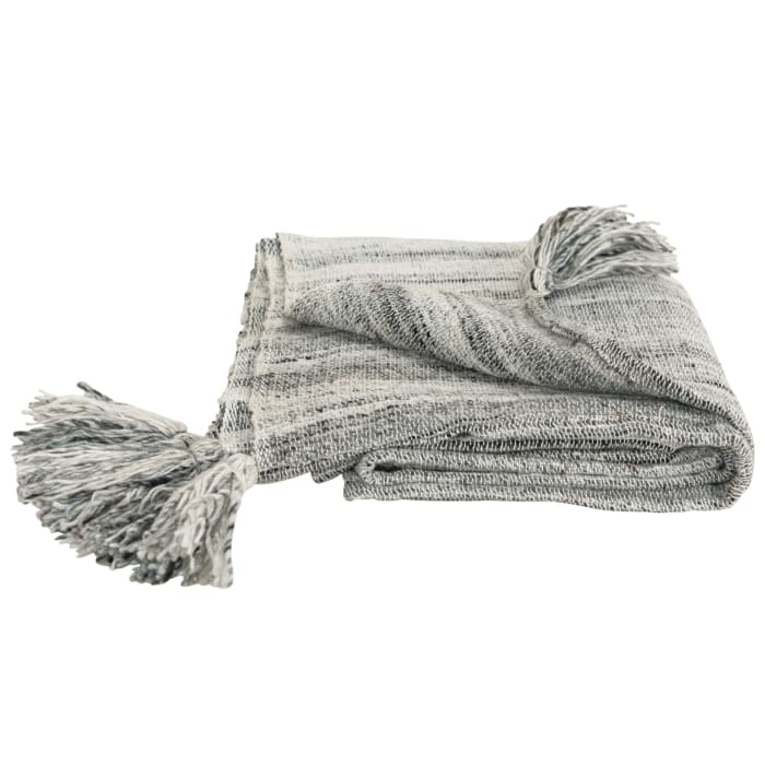 Charcoal 100% Recycled Polyester Solid Stripe 50