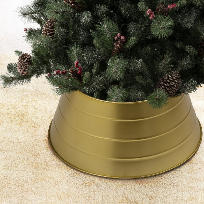 Painted Gold Metal Tree Collar