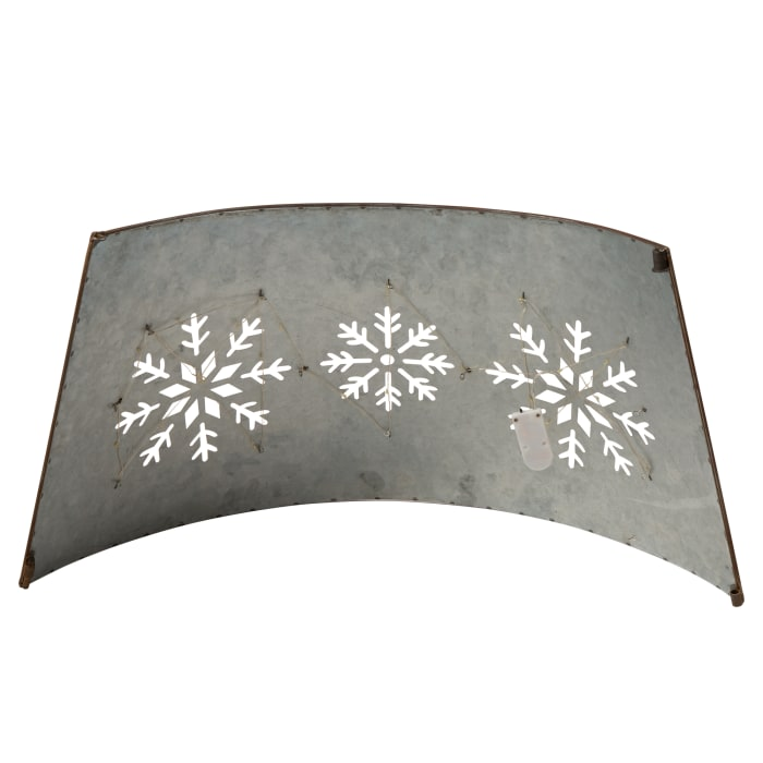 Snowflake Diecut Metal Tree Collar with Light String