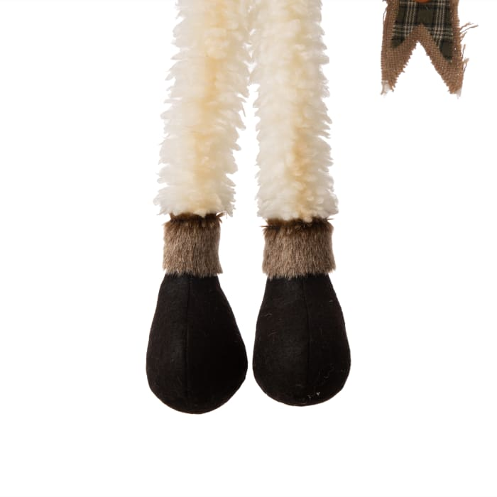 Fabric Christmas Snowman Shelf Sitter with Dangling Legs