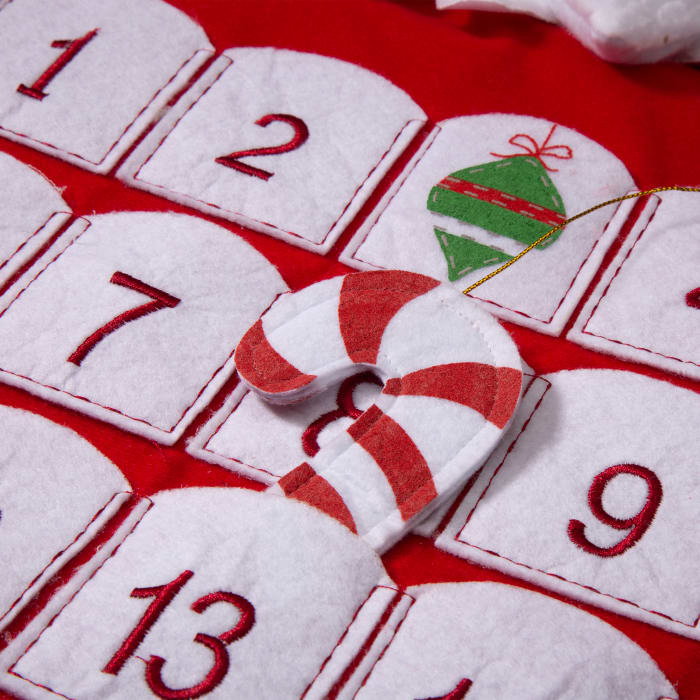 Felt 3D Oversized Santa Count Down Stocking