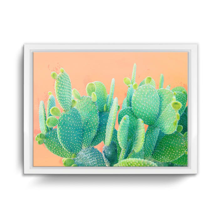 Coming Up Cacti Framed Succulent Canvas Wall Art