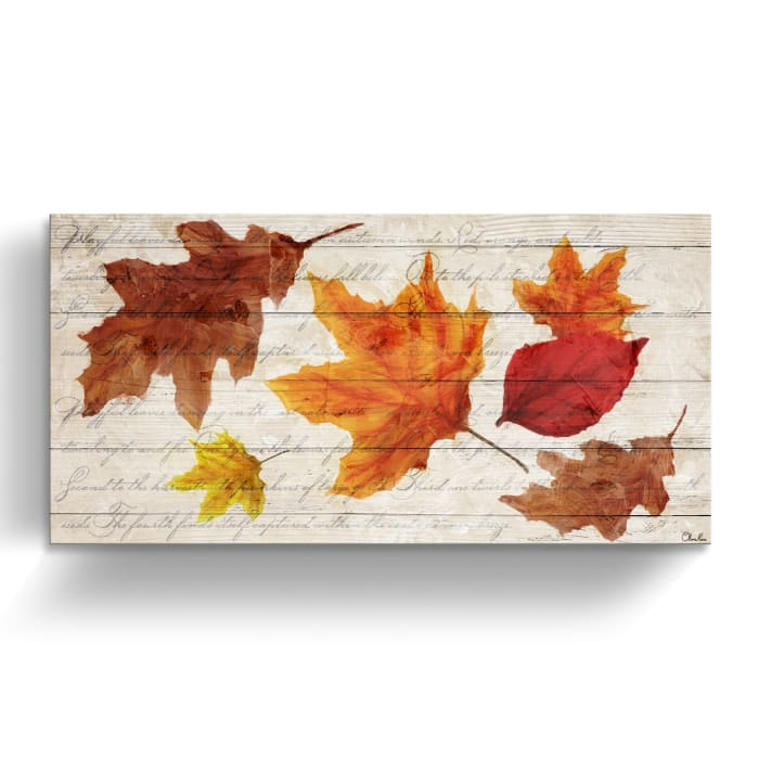 Autumn Leaves Multicolored Canvas Wall Art