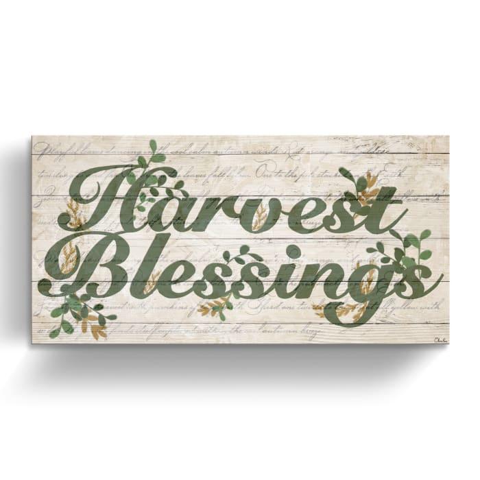 Blessings Green Canvas Wall Art