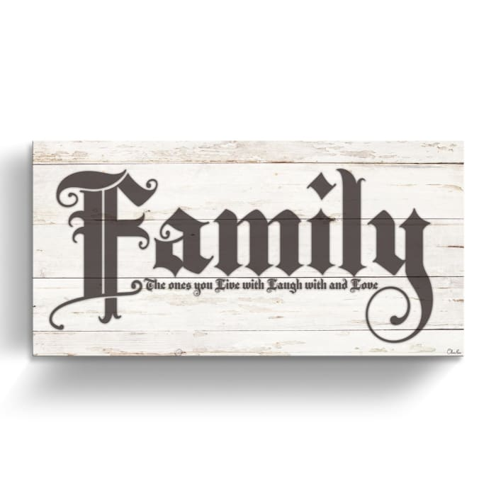 Family Brown Canvas Wall Art