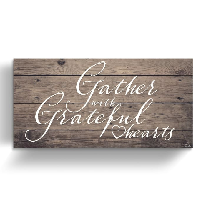 Gather Brown Canvas Wall Art
