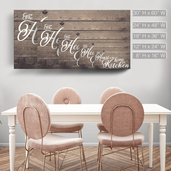 Heart of Home Brown Canvas Wall Art