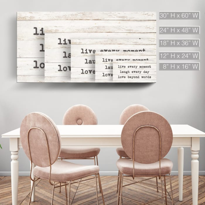 Words of Wisdom Beige Canvas Wall Art