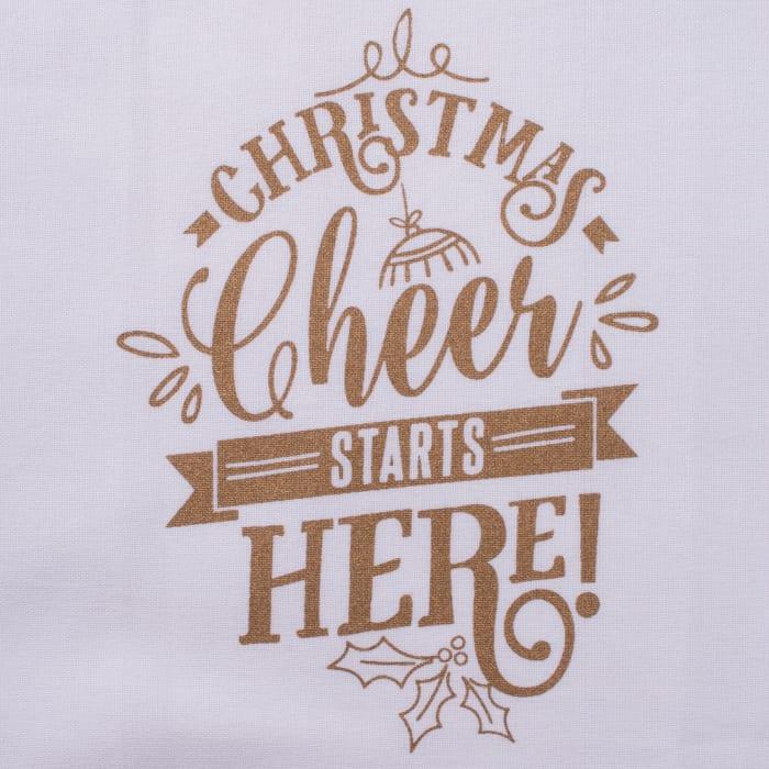 Assorted Christmas Cheer Printed  Dishtowel (Set of 2)