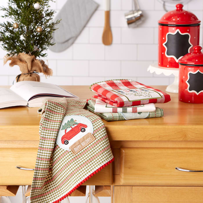 Kitchen & Tabletop Jolly Tree Collection Dishtowel Set, Assorted, S/4
