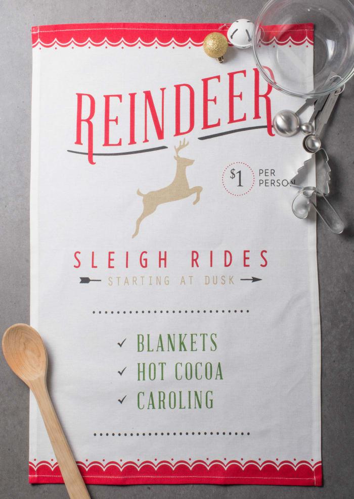 North Pole Holiday Printed  Dishtowel (Set of 3)