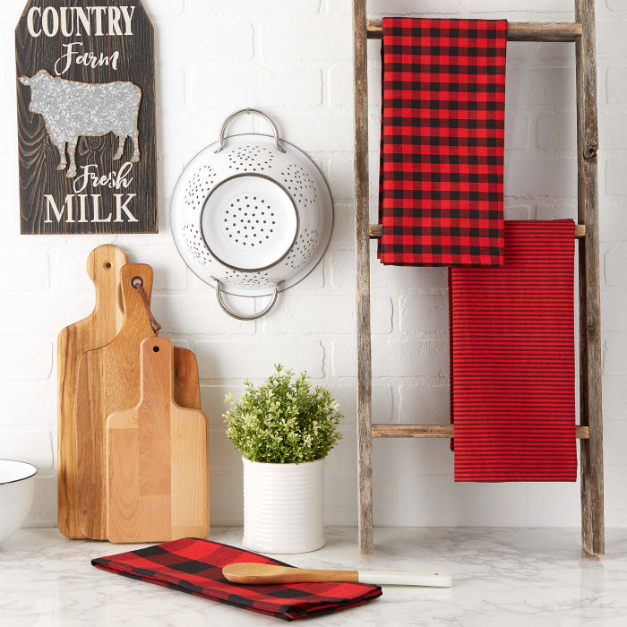 Red/Black Dishtowel Set