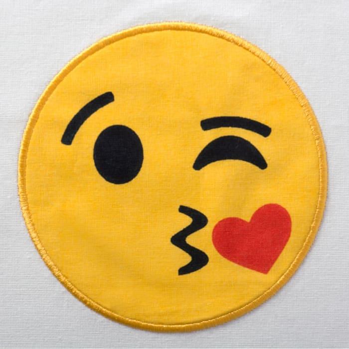 Smiling Emoji Embellished Dishtowels (Set of 3)