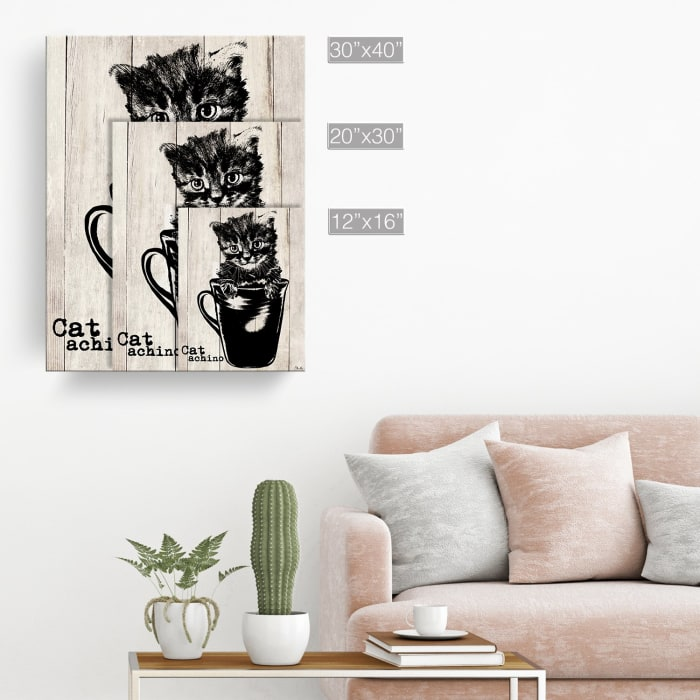 Kitty Cappuccino Beige Canvas Pet Wall Art