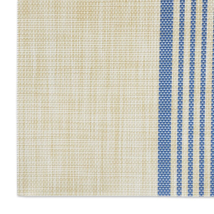 French Blue Middle Stripe PVC Woven Placemat