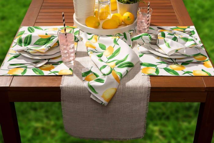 Lemon Bliss Print Outdoor  Placemat (Set of 6)